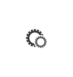 gear machinery logo icon vector image