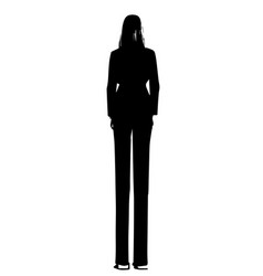 Girl standing behind fashion models sketch in vector