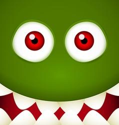 Green Monster face vector