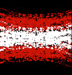 grunge blots austria flag background vector image