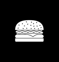 hamburger solid icon food drink elements vector image