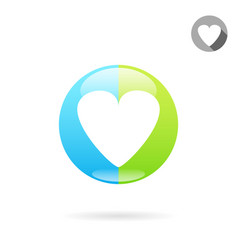 Heart medical icon vector
