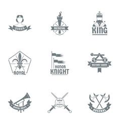Honor logo set simple style vector