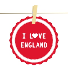 I lOVE ENGLAND4 vector image