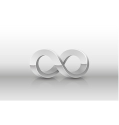 Infinity metal icon sign element graphic vector