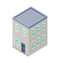 Isometric City Building Isometry vector