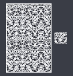 laser cut panel and seamless pattern vector image