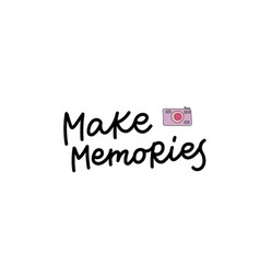 make memories photo calligraphy quote lettering vector image