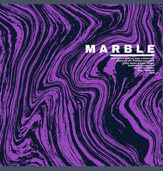 Marble texture background deep purple and fluid vector