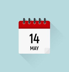 may 14 mothers day calendar icon data days vector image
