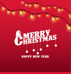 merry christmas and happy new year lighting vector image