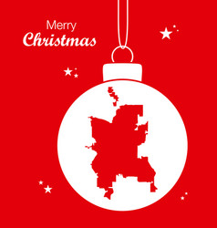 merry christmas theme with map of colorado vector image