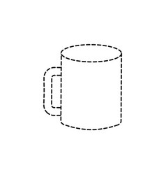 mockup of corporate ceramic mug template for vector image