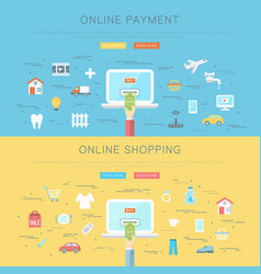 online payment and shopping concept vector image