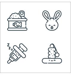 Pets line icons linear set quality line set vector