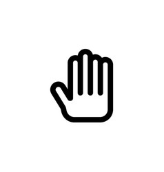 plam hand icon vector image
