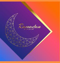 Ramadan kareem beautiful luxury greeting vector