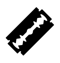 Razor blade silhouette design isolated on white vector