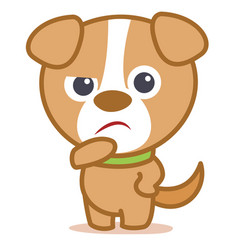 Sad dog character cartoon vector
