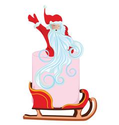 Santa and pink toilet paper vector