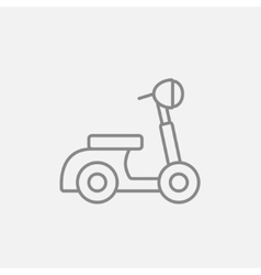 Scooter line icon vector image