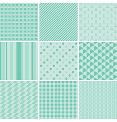 Seamless baby patterns vector