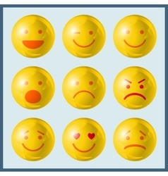 Set emoji icons vector