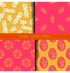 Set of eastern seamless patterns vector
