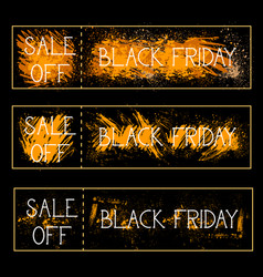 set of sale off black friday posters background vector image