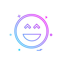 smiley icon design vector image