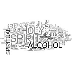 Spirit word cloud concept vector