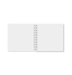 square copybook with metallic white spiral vector image