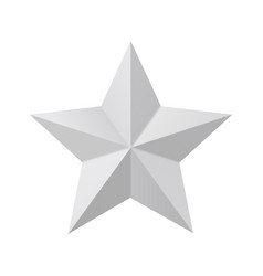 star mockup isolated on white background vector image