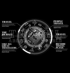 stylish promo about travel around the vector image