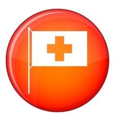 Switzerland flag icon flat style vector image