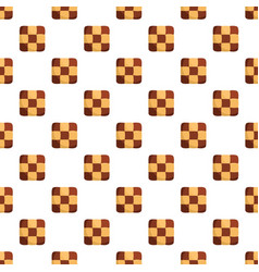 Tasty biscuit pattern seamless vector