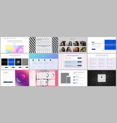 Templates for website design minimal vector