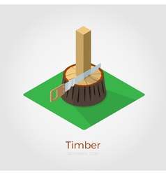 Timber isometric vector image vector image