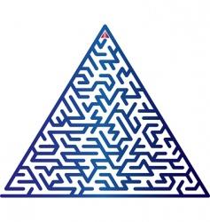 triangle maze vector image