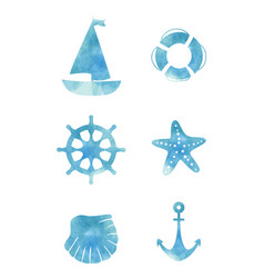 variety ocean decoration set vector image