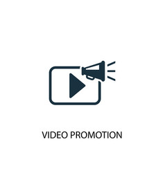 Video promotion icon simple element vector