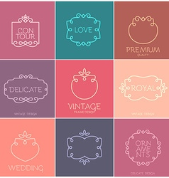 Vintage Frame Template Set vector