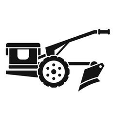 Walking tractor icon simple style vector
