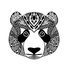 Zentangle stylized panda Sketch for tattoo or t vector image