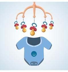 Baby shower design invitation design isolated vector
