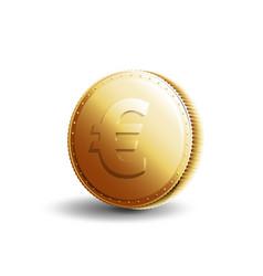 gold coin euro vector image