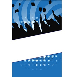 Graduation background vector image vector image