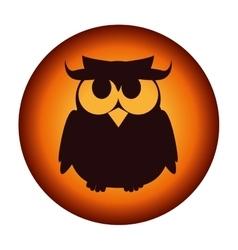 owl halloween card icon vector image
