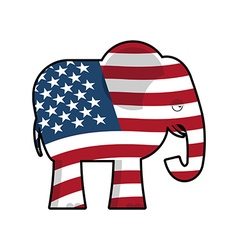 Republican Elephant Symbol of political party in vector image vector image