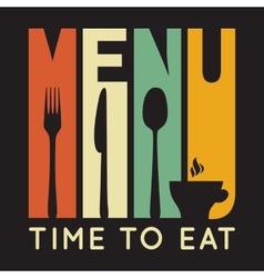 Retro restaurant menu card vector image